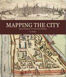 Front cover of Mapping the City by C J Schüler, with historic maps